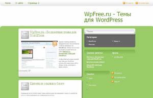 Зеленая тема wordpress