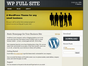 Бизнес тема wordpress