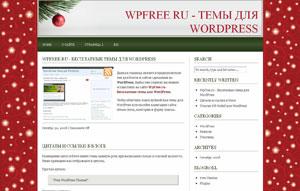 Новый год wordpress шаблон