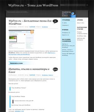 твиттер шаблон wordpress