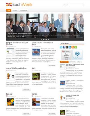 новостная тема для wordpress