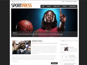 спортивный шаблон wordpress
