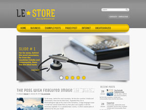 желтый шаблон wordpress