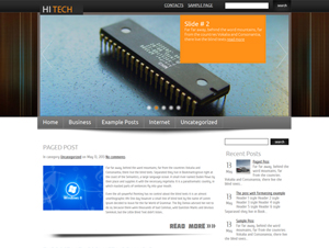 hitech шаблон для wordpress