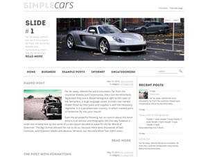 SimpleCars wordpress