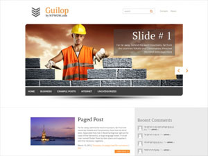 строительный шаблон wordpress
